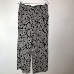 Elevenses Native Palm Leaf Palazzo Pants Size sm